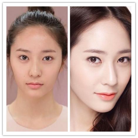 Krystal f(x) tanpa make-up