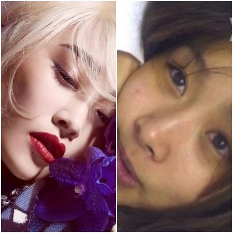Nicole tanpa make-up