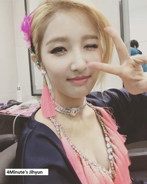 Jihyun, anggota kelompok 4Minute setelah perayaan ultahnya