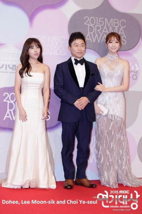 Dohee, Lee Moon-sik and Choi Ye-seul