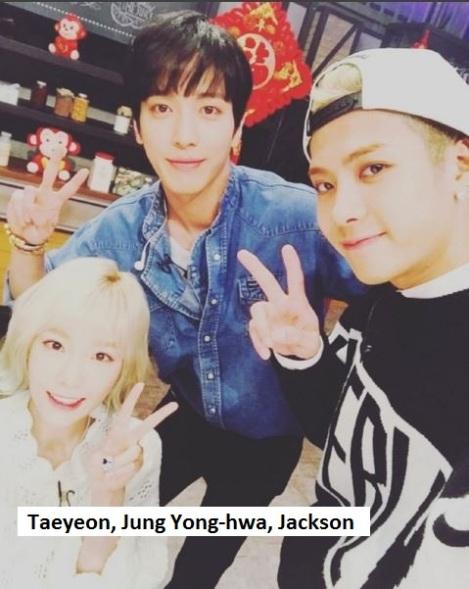 """Taeyeon SNSD, Jung Yong Hwa CNBlue, Jackson GOT7 sesaat setelah syuting """"Please Take Care of My Refrigerator"""" versi Mandarin"""