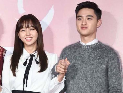 Kim So Hyun dan D.O dalam jumpa pers film Pure Love