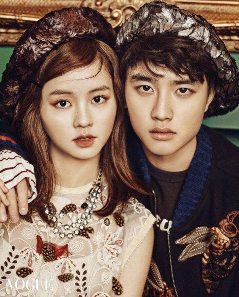 Kim Sohyun, D.O. EXO majalah VOGUE Februari (2)