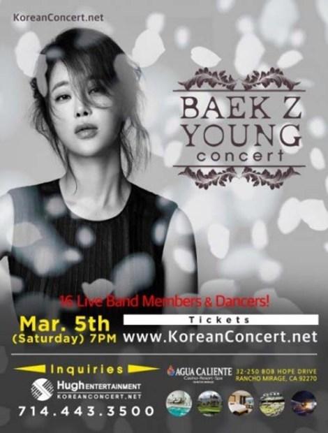 Konser Penyanyi Balada Baek Ji-young