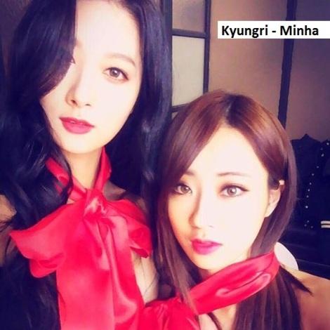 Kyungri dan Minha saat akan pemotretan teaser terbaru