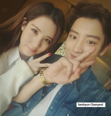 Seohyun dan Chanyeol selfie setelah syuting film terbaru mereka