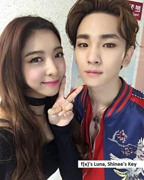 Shinee Key dan f(X) Luna