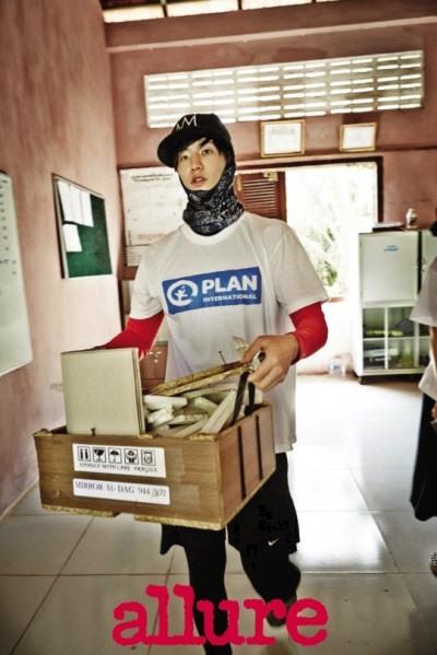 Song Jae Rim Jadi Relawan Di Kamboja (2)