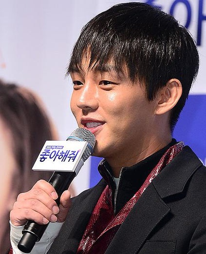 Yoo Ah In saat menghadiri press conference film Like for Likes