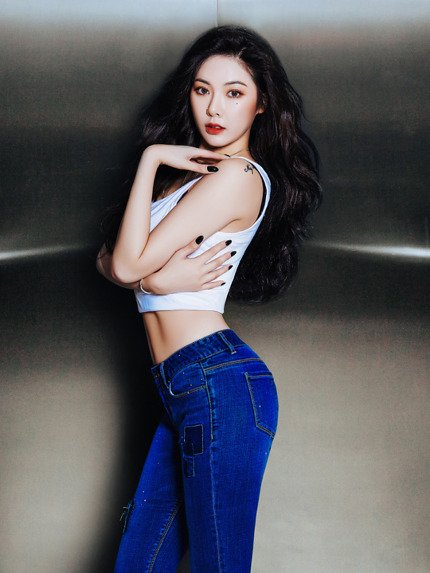 Hyuna 4Minute Pictorial Jeans Rubber (2)