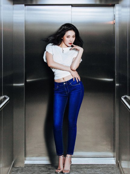 Hyuna 4Minute Pictorial Jeans Rubber (3)