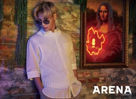 SHINee's Taemin for 'Arena Homme+' March 2016 (1)