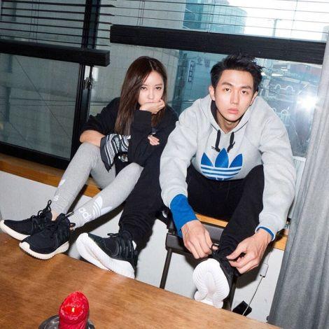T-ARA's Hyomin & Seulong for Adidas Originals Tubular (1)