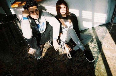 T-ARA's Hyomin & Seulong for Adidas Originals Tubular (2)