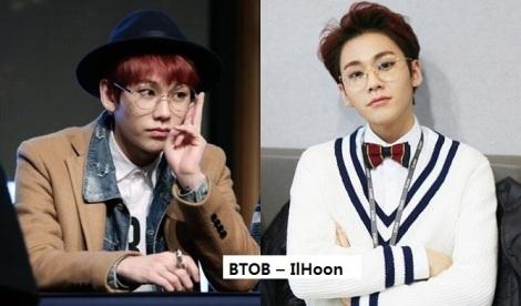 IlHoon, dari kelompok BTOB juga sering menggunakan kacamata bulat