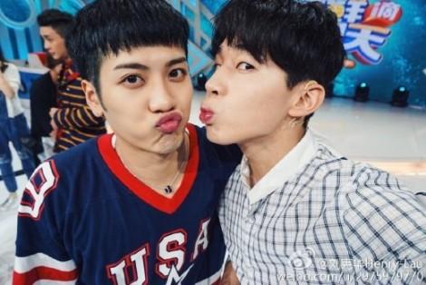 Funny Selfie Jackson GOT7 and Henry Super Junior (1)