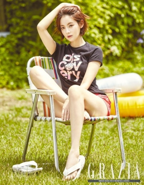 Oh Yeon-seo in fashion magazine Grazia's June issue, for brand Discovery Expedition (3)